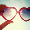 All the letters I can write: Heart-shaped (and rose-colored) glasses