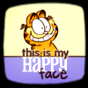 garfield happy face
