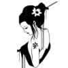 art, black and white, japan, geisha, japan art