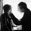 Sherlock/John and Mrs H b&w