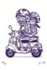 scooter vespa calaveras