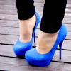 natural_blue_26: Shoes ~ Blue heels with skinny jeans