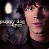Charity: [Sam] puppy dog eyes