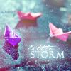 rain, paper boats