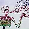 smoke, skeleton, bitch please