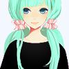 Anime~ turquoise hair.
