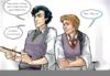 Slytherin!Sherlock/Gryffindor!John