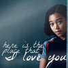 Nicole: Rue - here is the place that I love you