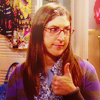 TBBT Amy Thumbs Up