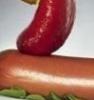 сосиска с кетчупом