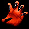Dhamphir - Red hands with black claws