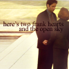 All the letters I can write: here's two frank hearts and the open sk