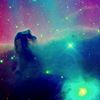 the silver lady: horsehead nebula by roxicons