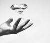 photography, minimalistic, hand, diamond