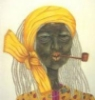бабка с трубкой