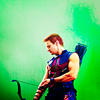 The Other Crazy French Chick: AVENGERS hawkeye and his arms
