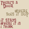 ★ when is a door not a door
