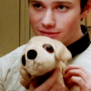 glee: kurt w margaret thatcher dog