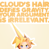 ff7 | cloud's hair > your argument