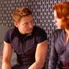 Avengers Clint Natasha sitting