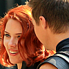 sugar_fey: avengers: hawkeye/black widow smile