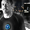 DD3: stark/iron man_b&w with blue heart