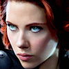black widow (intense eyes)