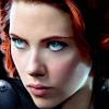 black widow (intense eyes)