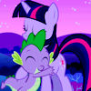 Twilight Sparkle, Spike, Dragon