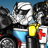 Sunstreaker/Ratchet/Sideswipe
