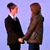 Karen/Holly holding hands