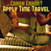 All the letters I can write: Canon Error? Apply Time Travel