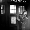 black and white, Tardis, Tennant
