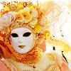 Yellow Venice Mask