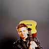 the girl who used to dance on fire and brimstone: actor//jeremy renner and guitar - me