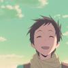 Hyouka. Satoshi smiling