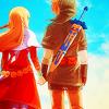 link zelda holding hands