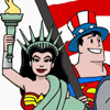 superman--wonder woman (uncle sam & lady