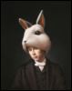 """Lewis Carroll As the White Rabbit"""