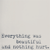 Everything was beautifu and nothing hurt