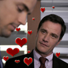 sinfulslasher: white collar neal + peter little hearts