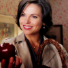 ; offering an apple