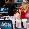 Newsroom: Maggie/Jim red dress