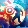 Lenre Li: The Avengers - geometric Cap