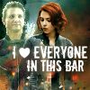 hufflepuffsneak: love everybody in this bar