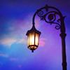 streetlamp and blue sky