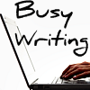 busy writing