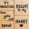 speak right to my heart