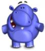 бегемот, синий