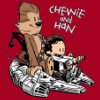 chewbacca, han solo, star wars, calvin, chewie